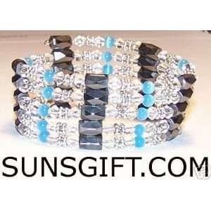 CLEAR CRYSTAL Magnetic Bracelet SKY BLUE
