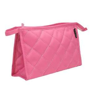 Pink / Plaid Makeup bag With mirror / Toiletry bag / cosmetic case bag