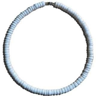 Native Treasure   Puka Shell Necklace Blue Cat Eyes Hawaiian Surfer