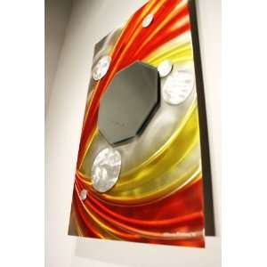 Abstract Metal Wall Mirror Art Sculpture, Design by Wilmos