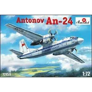Model From Russia   1/72 Antonov An24 Military Civilian Aircraft