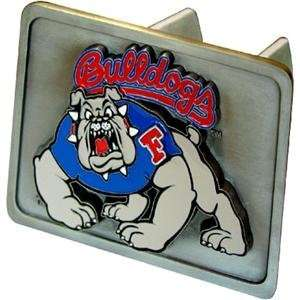 Fresno State Bulldogs NCAA Pewter Trailer Hitch Cover