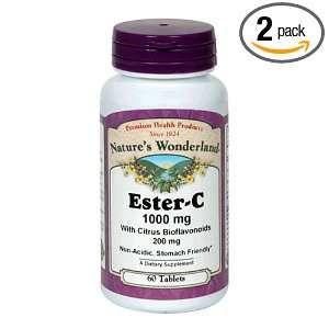Natures Wonderland Ester C Complex Capsules, 1000 mg, 60