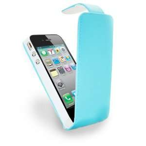 Blue Specially Designed Leather Flip Case & Screen Protector/Foil/Film