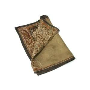 RALPH LAUREN Small Silk Scarf with Paisley Design, Brown