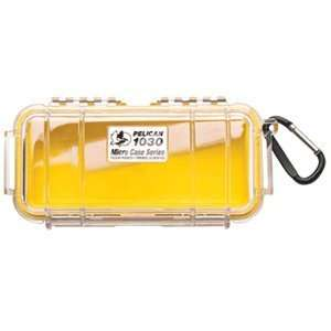 High Quality Pelican 1030 Micro Case w/Clear Lid   Yellow