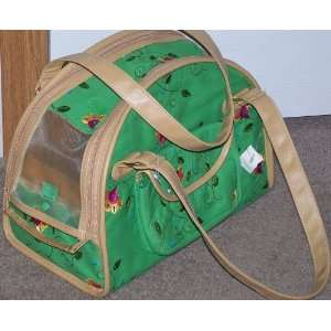 Embroidery Stitched X Small Plush Pet Carrier