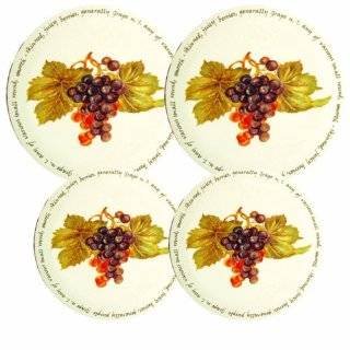 Reston Lloyd Electric Stove Burner Covers, Set of 4, Wine and Vines