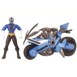 Power Rangers Samurai Disc Cycle and 10cm Figure   Blue  Toys & Games