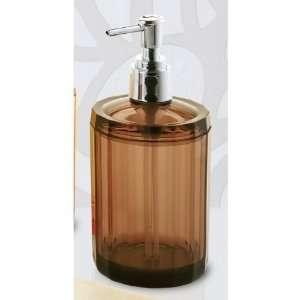 Orange Round Soap Dispenser with Chrome Hand Pump CL80 Home & Kitchen