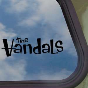 The Vandals Black Decal Punk Rock Band Truck Window