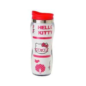 Sanrio Hello Kitty Stainless Steel Mug Glasses   Red