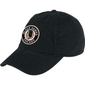 Reebok Chicago Blackhawks Black Unstructured Slouch Hat