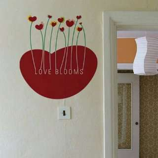 Love blooms WALL DECOR DECAL MURAL STICKER REMOVABLE VINYL Automotive