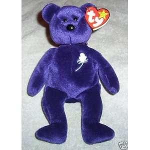 TY BEANIE BABY 1997 PRINCESS BEAR PURPLE W/TAG (RETIRED