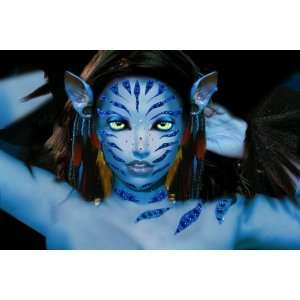 Xotic Blue Costume Rhinestone Body Art Sticker Set   Vatara Stripes