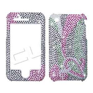 Apple iPhone 3G/3GS   PAISLEY DESIGN Pastel Colors   Full Rhinestones
