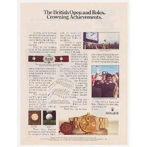 1985 British Open Golf Rolex Day Date Chrono Watch Print