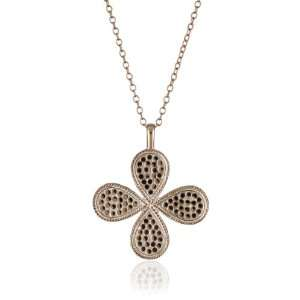 Anna Beck Designs Gili 18k Rose Gold Plated Clover Necklace: Jewelry