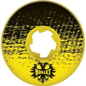 Bullet Shade 52mm Yellow/Black Skateboard Wheels (Set Of 4):