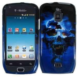 Blue Skull Hard Case Cover for Samsung Exhibit T759 Cell
