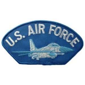 U.S. Air Force Jet Hat Patch 2 3/4 x 5 1/4 Patio, Lawn