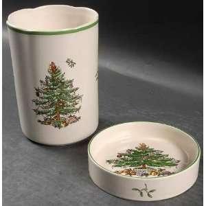 Spode Christmas Tree Green Trim Wine Cooler & Coaster Set, Fine China