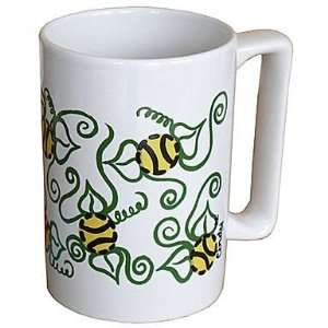 Flowers and Tennis Balls Ceramic Coffee Mug Sports & Outdoors