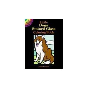 Dover Stained Glass Coloring Book Dogs Arts, Crafts