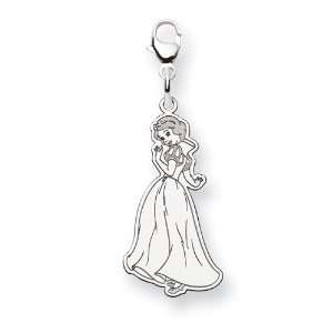 Sterling Silver Disney Snow White Lobster Clasp Charm   JewelryWeb