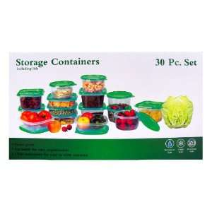 30 Piece Plastic Food Container Set   15 Plastic Storage Containers