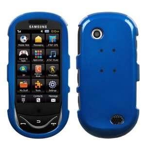 SAMSUNG SUNBURST A697 BLUE SOLID HARD CASE COVER