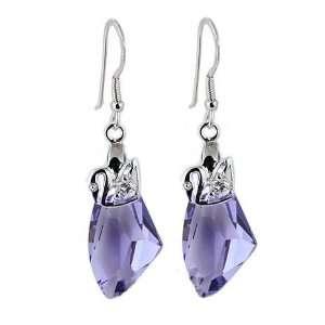 Swarovski Crystal & Sterling Silver Swan,Super Saving,Free Jewelry Box