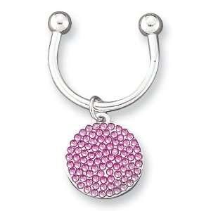Rose Swarovski Crystal Key Ring Jewelry
