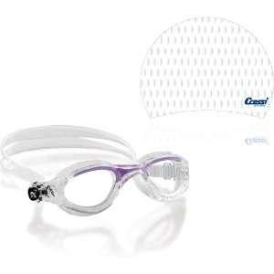 Cressi Flash Swim Goggle with Silicone Swim Cap