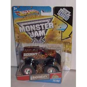 & RESCUE TRUCK) SPECTRAFLAMES TATTOO SERIES MONSTER JAM TRUCK #75/80