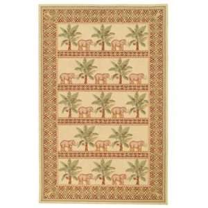Inch by 8 Feet 3 Inch Hand Hooked Wool Area Rug, Ivory