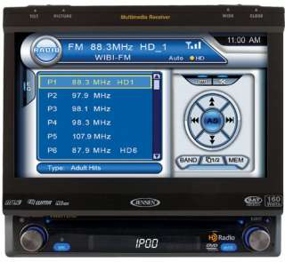 with 7 Inch Touch Screen and HD Radio Tuner (Black) Car Electronics