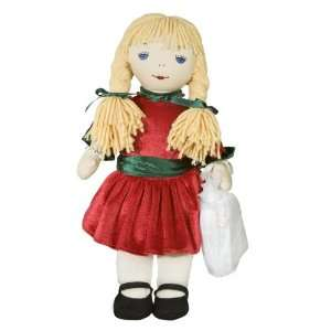 Pals Janet Christmas 16 Rag Doll w/ Nightgown and Tote Toys & Games