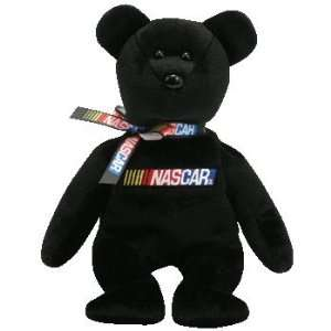TY Beanie Baby   RACER the Nascar Bear (Black Version)  Toys & Games
