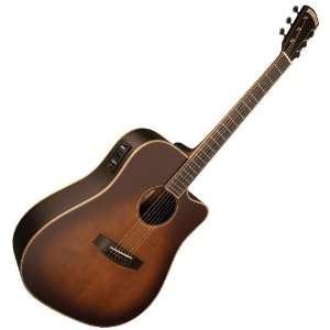 VINTAGE ACOUSTIC ELECTRIC GUITAR w/ FISHMAN +CASE Musical Instruments