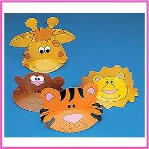 Jungle Animal Zoo Visors (12 pc)  Toys & Games