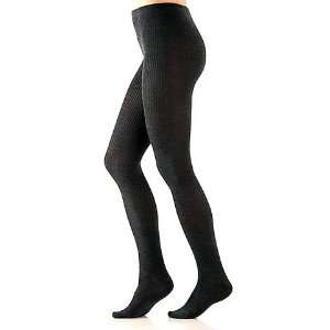 Womens Merino Wool Ribbed Tights PLUS Size   Grey