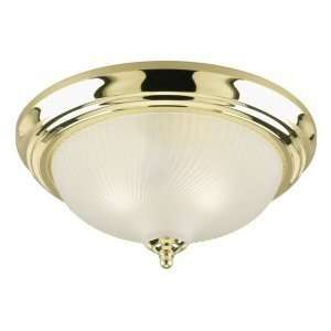 Westinghouse 64303   3 Light Polished Brass Ceiling Flush Mount Light