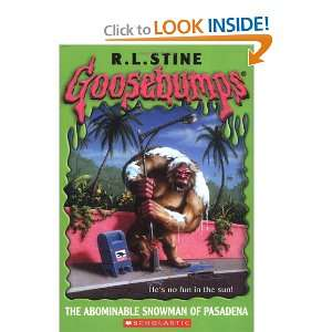 The Abominable Snowman of Pasadena (Goosebumps Series