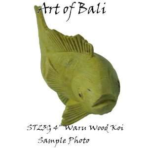 Bali Zen Garden 4 Polished Waru Wood Koi ST23G: Patio, Lawn & Garden