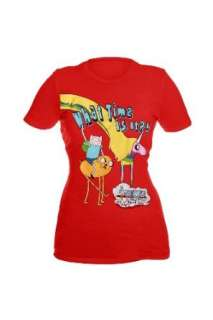Adventure Time Finn & Jake What Time Is It? Girls T Shirt