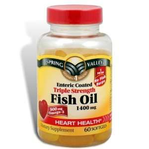 Spring Valley   Fish Oil 1400 mg, Triple Strength, Enteric