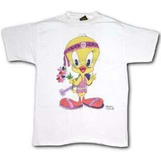 Looney Tunes Tweety Hippie T Shirt Clothing
