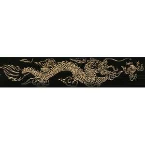 BLACK SAMURAI SWORD SET OF 4, DRAGON